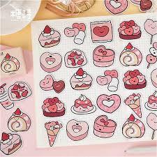 <b>1pcs</b> Kawaii Stationery Stickers <b>lovely Fast Food</b> pattern ...