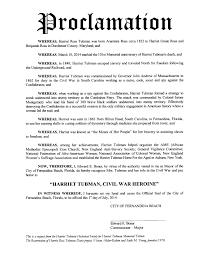 harriet tubman harriet tubman proclamation proclamation