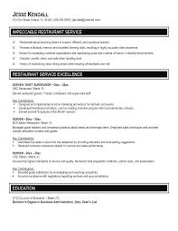 resume server  seangarrette co   resume for a server   resume server