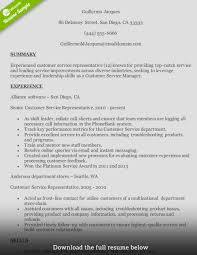 how to write a perfect customer service representative resume customer service resume midlevel