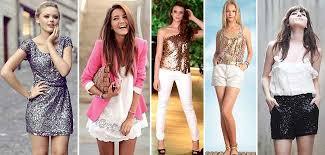 Resultado de imagem para imagens de vestidos e shorts com branco e paetê para natal e reveion 2015
