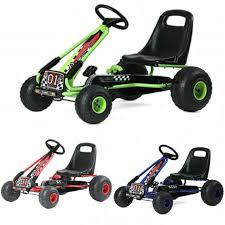 Kids <b>Pedal</b> Powered <b>Go Kart</b> Seat <b>Adjustable</b> Outdoor Racer Mini ...