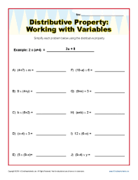 Distributive Property Of Multiplication Worksheets Grade 4 ...Distributive Property 3rd Grade Math Worksheets. Math Worksheets