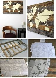 decorating ideas wall art decor: pallet board world map click pic for  diy wall art ideas for living room