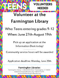 teens the farmington libraries click here for application