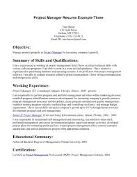 resume examples resume example objectives template of resume resume examples project manager resume objective as manager position career and summary of skills