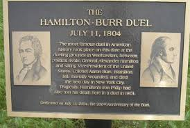 「1804 alexander hamilton and vice president arlon bar」の画像検索結果