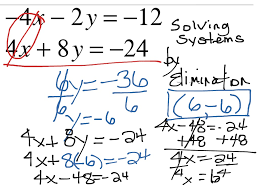 ShowMe - Solving systems of equation by elimination