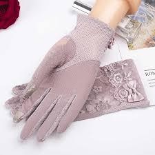 Women Touch Screen Summer Driving Gloves Anti UV Slip ...
