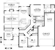 ideas about Shop House Plans on Pinterest   Morton Building    single story house floor plans   Plan W AM  Northwest  Cottage  Photo Gallery House