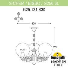 <b>Светильник</b> уличный подвесной <b>FUMAGALLI SICHEM</b>/G250 3L ...