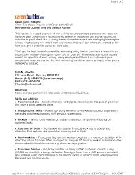 general skills for resume livmoore tk general skills for resume