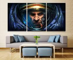 <b>Home Decor Modular Canvas</b> Picture 3 Piece StarCraft Game ...