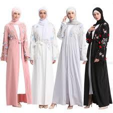 Arabic Abaya Dubai Kaftan Arab Islam <b>Women Long Floral</b> Muslim ...