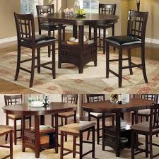 Kitchen Bar Table And Stools Oak High Top Table With 6 Stools Your Kitchen Design Inspirations