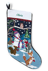 Needlepoint Personalized Christmas Stocking | Lands