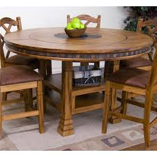 designs sedona table top base: sunny designs sedona adjustable height round table w lazy susan