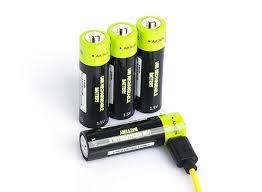 <b>Znter</b> 1.5V 1250mAh USB <b>Rechargeable AA</b> LiPoly Battery (<b>4pcs</b>)