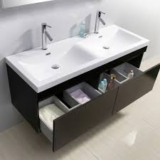 55 inch double sink bathroom vanity:  virtu usa zuri  double bathroom vanity set in wenge