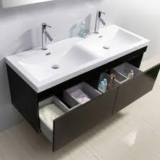 55 inch double sink bathroom vanity:  virtu usa zuri  double bathroom vanity set in wenge
