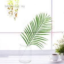 <b>1Pc</b> Palm Leaves Plastic Silk Fake Simulation <b>Plant</b> Artificial Leaf ...