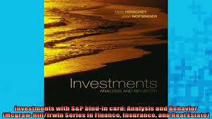 investments sp bindin card analysis and 00 12