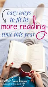 easy ways to fit in more reading time this year creative home keeper did you set reading goals for yourself this year what are they