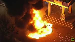 Image result for berkeley riot against milo