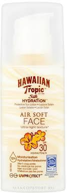 Hawaiian Tropic Silk Hydration Air Soft <b>Face</b> Protective <b>Sun Lotion</b> ...