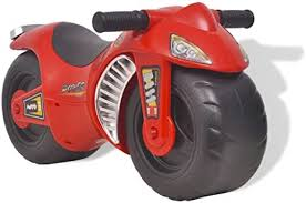 vidaXL Ride-on <b>Motorcycle Plastic</b> Red Children Kids <b>Toy Motorbike</b> ...