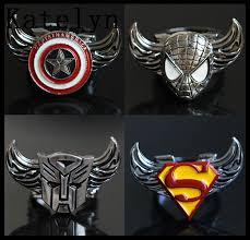 mix styles new fashion superman logospidermanbatmanhunger gamesiron man batman superman iron man