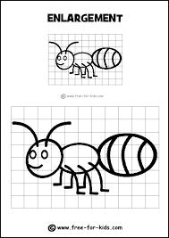 Drawing Grid Enlargement Worksheets For Kids Intrepidpath