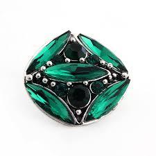 PAPAPRESS <b>10pcs lot Big Crystal</b> Metal Ginger Snaps Button ...