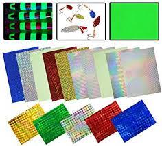 Holographic Adhesive Film Flash Fishing Lure Prism ... - Amazon.com