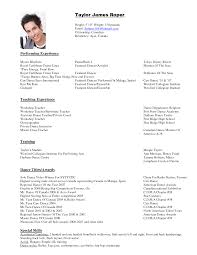 dance resume sample job and resume template belly dance instructor resume sample