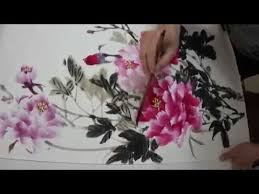 Traditional <b>Chinese Watercolor Painting</b> : Flower <b>Painting</b> With ...
