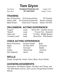 resume examples commercial acting resume format commercial acting resume examples brand new resume acting resume examples acting headshot resume