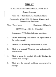 marketing management paper pondicherry university mba previous years question paper international logistics management service marketing pondicherry university mba previous