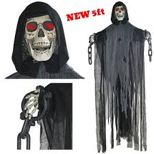 Ladeyi <b>Hanging</b> Skeleton Grim Reaper <b>Halloween</b> Decoration Prop ...