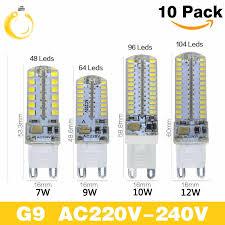 <b>10pcs</b>/<b>lot</b> G9 <b>Led</b> Light Bulbs 220V 7W 9W 10W 12W <b>Corn</b> Bulb 360 ...