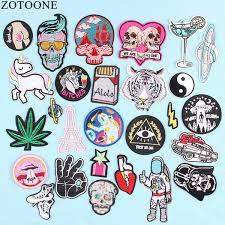 2019 <b>ZOTOONE</b> UFO Space Skull <b>Tiger Patch</b> Iron On Sew On ...