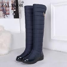 <b>ZALAVOR Snow Boots</b> For <b>Women</b> Warm Knee High Boots Round ...