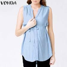 VONDA <b>Women Off</b> Shoulder Blouses Shirts 2019 <b>Autumn</b> Pregnant ...