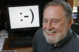 Carnegie Mellon professor Scott E. Fahlman is shown in his home office Carnegie Mellon University in Pittsburgh - where he invented smily face emoticons 30 ... - article-2200529-14EB2997000005DC-614_634x422