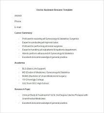 doctor resume templates –    free samples  examples  format    doctor assistant resume template