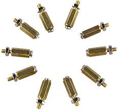 3SETS <b>DIY 11MM Hex Brass</b> Cylinder + Screw + Nut Kits for ...