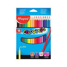 """Цена на Набор <b>карандашей цветных Maped</b> """"<b>Color</b> Peps"""" 18 цв в ..."""
