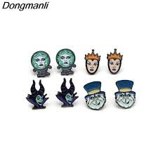 P3702 <b>Dongmanli Funny</b> Maleficent Queen Enamel Pins and ...