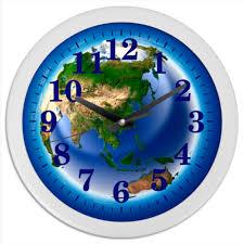 "Часы круглые из пластика ""<b>ЗЕМЛЯ</b>"" #2517603 от robus - <b>Printio</b>"