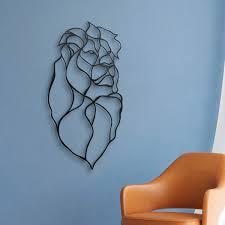 umbra wallflower wall decor white set: lion head wooden wall art designer d wall art hu